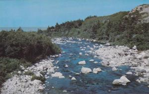The Mackenzie River, Cabot Trail, Cape Breton, Nova Scotia, Canada,  40-60s