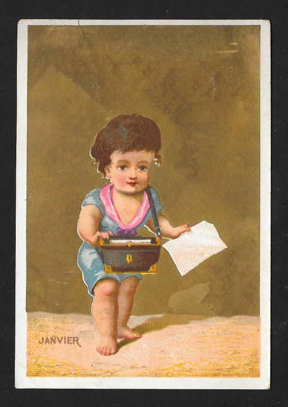 VICTORIAN TRADE CARDS (3) Children Playing