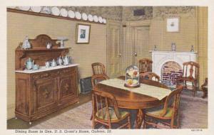 Illinois Galena U S Grant's Home Dining Room Curteich