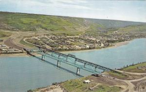 Bridge, Peace River, Alberta, Canada, 1940-1960s