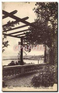 Old Postcard Menton Garavan View from