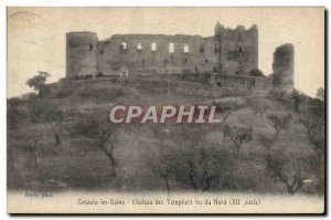Postcard Old Gre'oulx les Bains Chateau Templar Given North