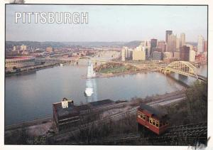 Pennsylvania Pittsburgh Aerial View From Duquesne Incline Observtaion Deck 1996