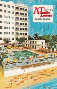 MIAMI BEACH, Florida, 40-60s; Atlantic Towers Hotel , Swimming Pool