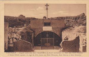 Tunisia Carthage Chapelle souterraine dans l'Amphitheatre