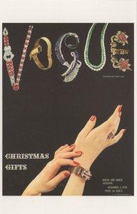 Ladies Gold Watch 1939 WW2 War Vogue Magazine Postcard