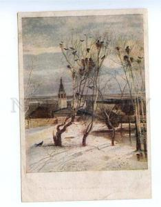 155128 RUSSIA Spring Rooks Arrived Kostroma by SAVRASOV old