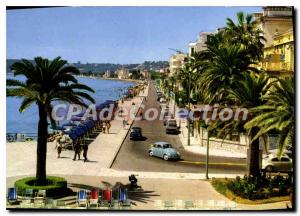 Postcard Moderne Menton The Promenade and Beach Carnoles (view taken from the...