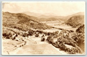 Cherokee NC~Birdseye Indian Reservation~Smoky Mountain Park~1935 RPPC