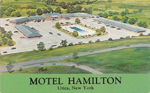 New York, Utica, Motel Hamilton, auto cars parking lot, swimming pool