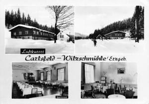 Germany Carlsfeld Wilzschmuehle Erzgeb. Speisesaal Klubraum Winter