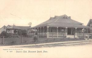 Monument Beach Massachusetts Stearns Club Exterior Antique Postcard K13906