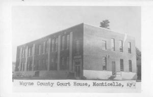 Monticello Kentucky view of Wayne Co Court House real photo pc Y10864