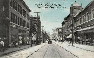 LPS51 Kansas City Missouri 300 Block 12th Street Town View Postcard