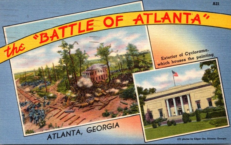 Georgia Atlanta Battle Of Atlanta and Exterior Of Cyclorama Which...