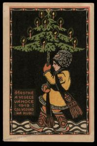 Czech Legion in Russia WWI Christmas Patriotic Card 90331
