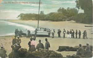 Postcard On the Beach at Cowes, Phillip Island, Australia A25