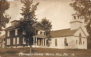 Kents Hill ME Methodist Church Eastern Illustrating RPPC Postcard
