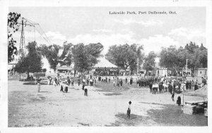Port Dalhousie Ontario Canada visitors at Lakeside Park antique pc ZD686016
