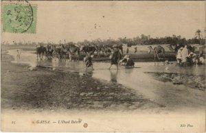 CPA AK GAFSA L'Oued Baiech TUNISIA (713022)