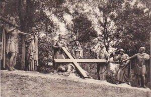 France Lourdes Station du Calvaire Jesus tombe pour la 3 fois