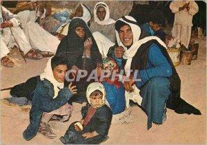 Postcard A Beduin Modern Family