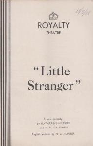 Little Stranger Henry Hewitt Comedy Royalty London Theatre Programme