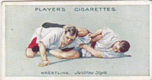 Cigarette Card Player and Sons Wrestling & Ju-Jitsu 1913 No 23 Japanese Arm Lock