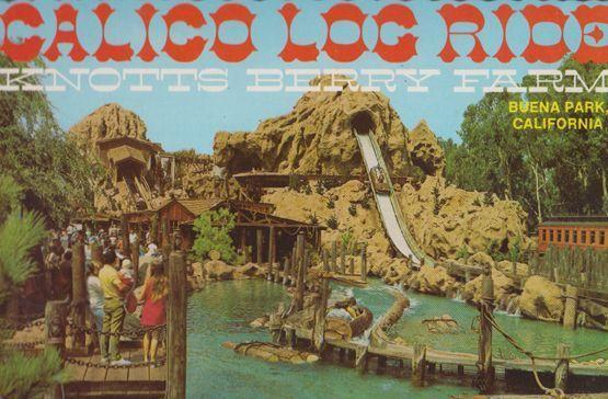 Calico Buena Log Ride Calafornia Theme Thill Amusement Park Postcard