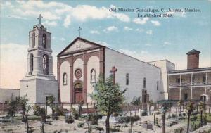 Old Mission Guadalupe C Juarez Mexico Established 1549