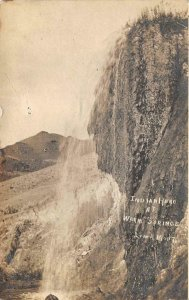 RPPC Indian Head At Warm Springs, Lima, Montana 1908 Vintage Postcard