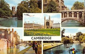 Cambridge River Cam and the Backs, Bridge of Sighs, Clare College, Chapel