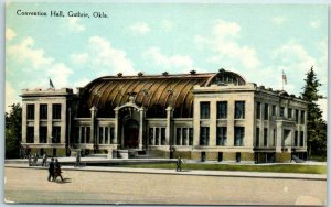 Vintage Guthrie, Oklahoma Postcard CONVENTION HALL Building / Street View c1910s