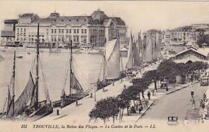 Sailboats, La Reine Des Plages, Le Casino Et Le Port, Trouville (Seine Mariti...