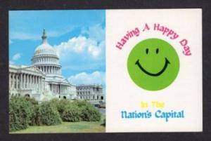DC Smiley Face Nation's Capitol WASHINGTON Postcard PC