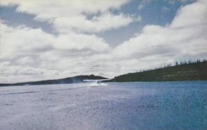 Plane Takes Off on Water, Lake Knob, Schefferville, Quebec, Canada, 40-60´s