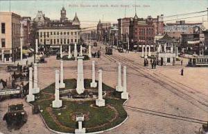 Ohio Lima Public Square & North Main Street 1911