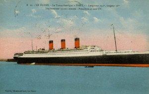 Transatlantique Generale - SS Paris