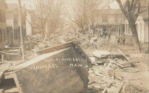 RP: HAMILTON , Ohio , 1913 ; Hanover Street Flood Scene