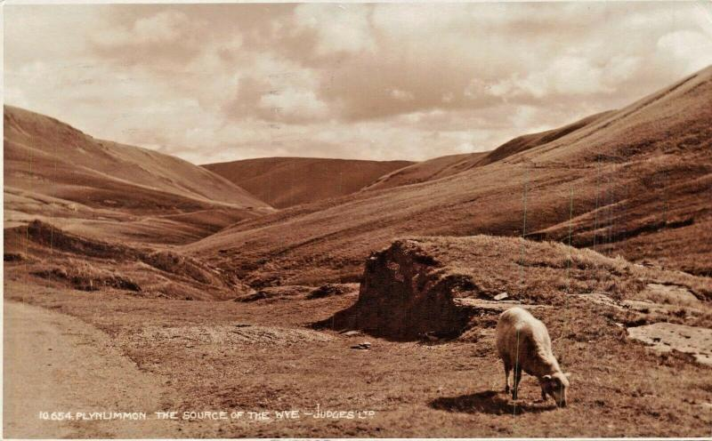 PLYNLIMMON CAMBRIAN MOUNTAINS WALES-SOURCE OF THE WYE RIVER PHOTO POSTCARD 1929