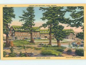 Unused Linen LODGE SCENE Crater Lake National Park Oregon OR J7371