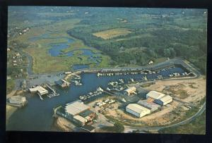 Barnstable, MA/Mass Postcard, Aerial View Of Barnstable Harbor, Cape Cod