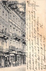 bg18697 czech karlsbad Karlovy Vary Haus Roter Adler   czech republic