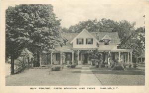 Green Mountain Lake Farms Main Building Pawling New York Wright postcard 10935