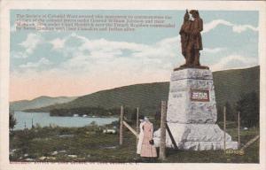 New York Lake George General William Johnson Monument 1923