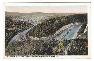 Mauch Chunk PA Lehigh River View from Flagstaff Bear Mountain Vintage Postcard