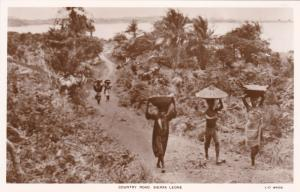 RP: SIERRA LEONE, 1920-1940s;  Natives Travelling Through The Country Road