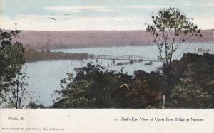 Upper Free Bridge , at Narrows , PEORIA , Illinois , PU-1908