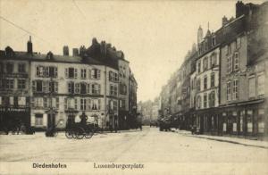 france, THIONVILLE DIEDENHOFEN, Luxemburgerplatz (1921) Postcard