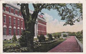 New York Utica Masonic Hospital Flower Gardens